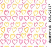 seamless background with hearts ... | Shutterstock .eps vector #1051429337