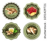 set of labels with design... | Shutterstock .eps vector #1051429721
