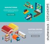 industrial machines isometric...   Shutterstock .eps vector #1051434395