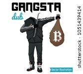 swag robber celebrates the...   Shutterstock .eps vector #1051439414