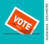 vote label   vector ballot... | Shutterstock .eps vector #1051440785