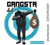 swag robber celebrates the... | Shutterstock .eps vector #1051441064