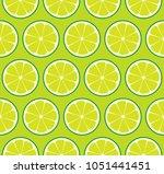 limeade lime seamless vector... | Shutterstock .eps vector #1051441451
