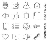 thin line icon set   watch...
