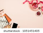 various stationary accessories... | Shutterstock . vector #1051451405