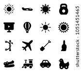 solid vector icon set   sun... | Shutterstock .eps vector #1051451465