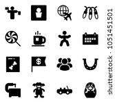 solid vector icon set   traffic ... | Shutterstock .eps vector #1051451501