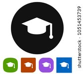 graduate hat icon | Shutterstock .eps vector #1051453739