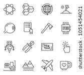 thin line icon set   around the ...   Shutterstock .eps vector #1051454021
