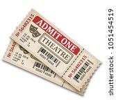 theater tickets in retro style. ... | Shutterstock .eps vector #1051454519