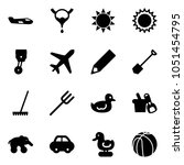 solid vector icon set   small... | Shutterstock .eps vector #1051454795