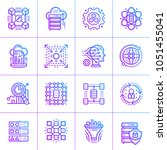 outline gradient icons... | Shutterstock .eps vector #1051455041