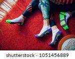 couple sport socks man woman... | Shutterstock . vector #1051456889