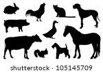 silhouette animal | Shutterstock .eps vector #105145709