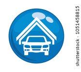 car vehicle in garage button... | Shutterstock .eps vector #1051458815