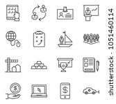 thin line icon set   notes... | Shutterstock .eps vector #1051460114