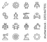 thin line icon set   wrench... | Shutterstock .eps vector #1051467551