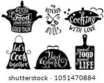 cooking set with kitchen... | Shutterstock . vector #1051470884