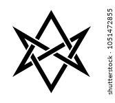 hexagrammum mysticum  ... | Shutterstock .eps vector #1051472855