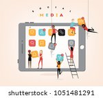 social media abstract vector... | Shutterstock .eps vector #1051481291