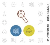 pack icons set with photography ...