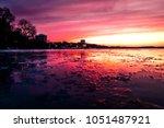 Madison Wisconsin Sunset Golden Hour Over Lake Mendota Facing Memorial Union Terrace