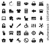 flat vector icon set   toilet... | Shutterstock .eps vector #1051491839