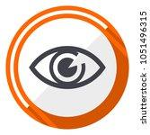 eye orange flat design vector... | Shutterstock .eps vector #1051496315