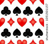 seamless poker background with... | Shutterstock .eps vector #1051501157
