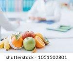 professional nutritionist... | Shutterstock . vector #1051502801