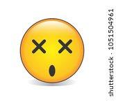 dizzy face emoji vector | Shutterstock .eps vector #1051504961