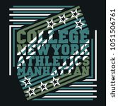 new york typography  design... | Shutterstock . vector #1051506761