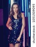 brunette woman wearing elegant... | Shutterstock . vector #1051509095