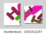 light pink  greenvector pattern ...