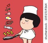 woman cooking a healthy meal. ...