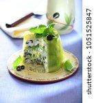 feta terrine with spring onion  ... | Shutterstock . vector #1051525847