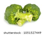 broccoli isolated on white... | Shutterstock . vector #1051527449