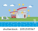 smart house technology and... | Shutterstock .eps vector #1051535567