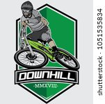 vector downhill mountain bike ... | Shutterstock .eps vector #1051535834