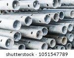 steel pipes  construction... | Shutterstock . vector #1051547789