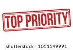 top priority grunge rubber... | Shutterstock .eps vector #1051549991