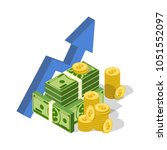 financial success concept.... | Shutterstock .eps vector #1051552097