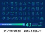 medicine and health line icons... | Shutterstock . vector #1051555604