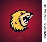 yellow beast's logo | Shutterstock .eps vector #1051562687