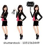 realtor avatar   clip art  ... | Shutterstock .eps vector #1051563449