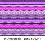 aztec pattern. tribal pattern... | Shutterstock .eps vector #1051564244