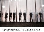 The Silhouette Of The Men...