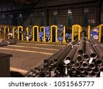industry   large warehouse of... | Shutterstock . vector #1051565777