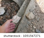 a hand reaching out to pick...   Shutterstock . vector #1051567271