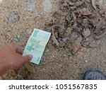 a hand reaching out to pick...   Shutterstock . vector #1051567835